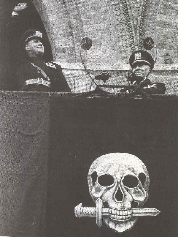 Galeazzo Ciano and Roberto Farinacci after a speech