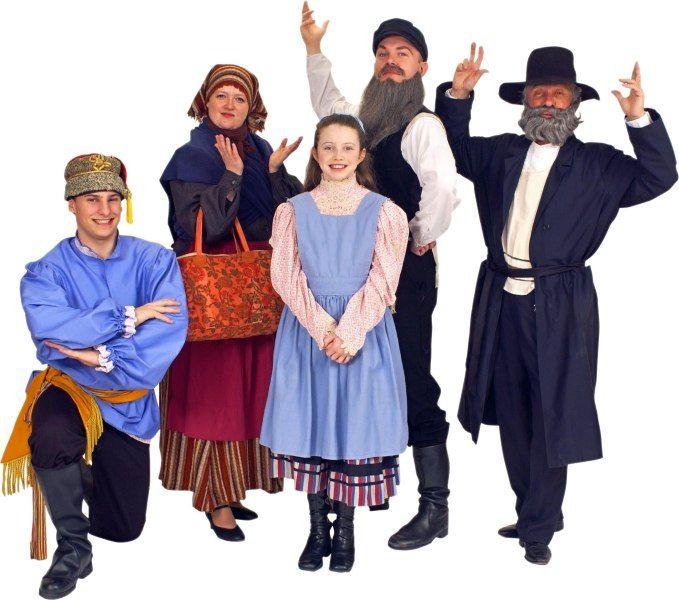 Rental Costumes For Fiddler On The Roof   Russian Villager, Yente The  Matchmaker, Tevyeu0027s