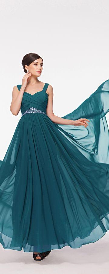 Teal maid of honor dresses long beaded bridesmaid dresses