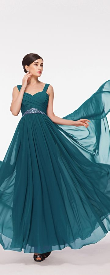 Teal maid of honor dresses long beaded bridesmaid dresses