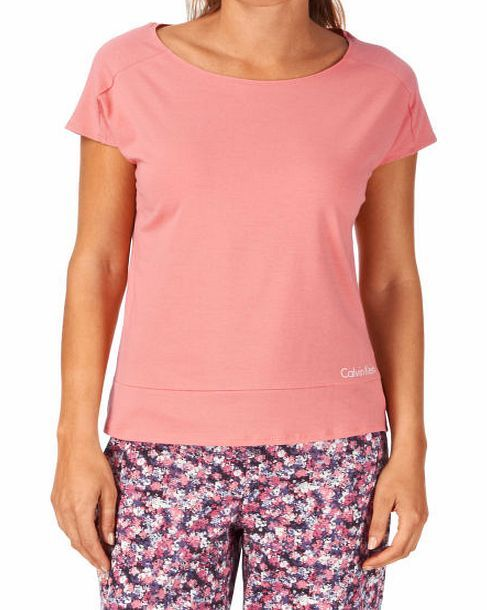 Calvin Klein Womens Calvin Klein Cotton Co-Ordinating Pyjama Womens short sleeve pyjama top