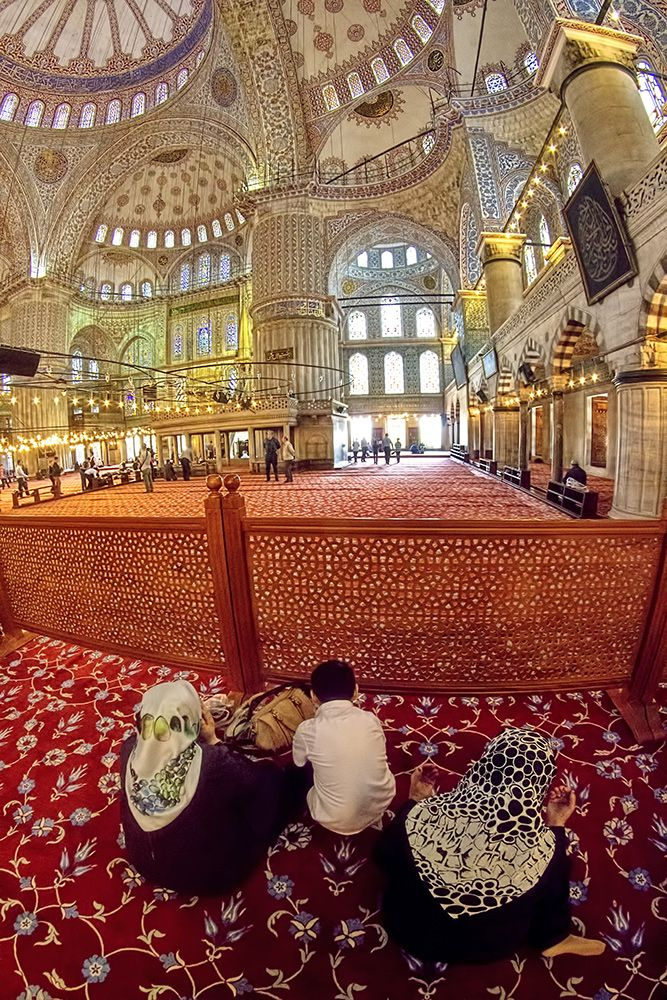 Istanbul, gorgeous mosque at prayer time.