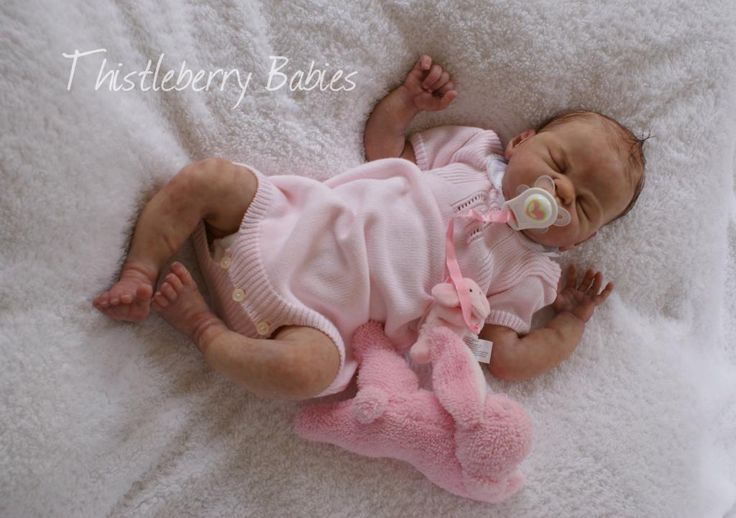 Thistleberry Babies Full-Body Solid Silicone Baby Girl ...