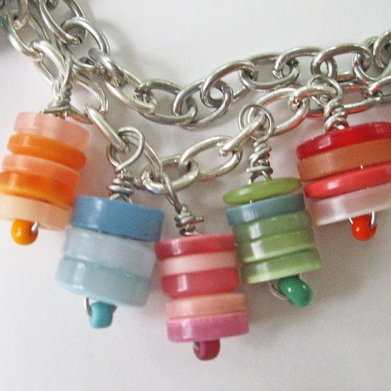 Button Jewelry  17inch button necklace by Caffeinegirl1 on Etsy, $25.00