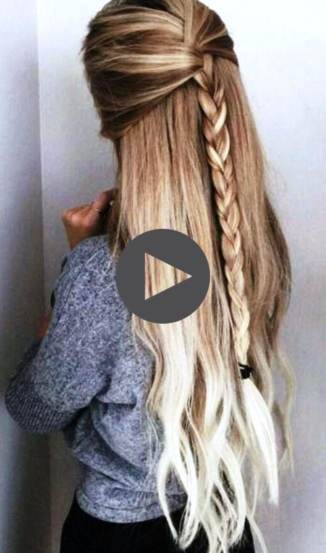 How To Do Nice Simple Hairstyles For Long Hair Step By Step At Home 2018 In 2020 Easy Hairstyles Easy Hairstyles For Long Hair Thick Hair Styles