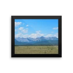 Framed photo paper poster: West of Calgary