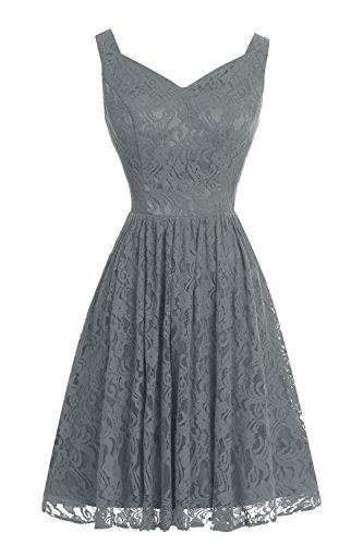 VP Floral V-Neck Short Full Lace Bridesmaid Dress Homecoming Prom Dress Steel Grey VP http://www.amazon.com/dp/B017NJRHR4/ref=cm_sw_r_pi_dp_2OVKwb0CJDW61