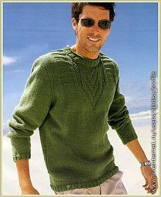 Мужские модели одежды, связанные спицами. Подборка 3