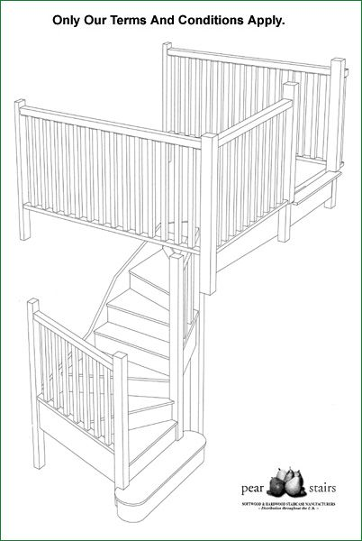 Trederwen View - staircase design.