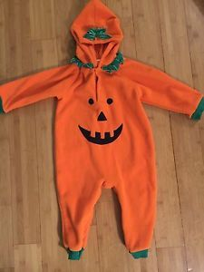 Unisex Pumpkin Orange One Piece Outfit Halloween Dress Up Pajamas 18 24 Month | eBay
