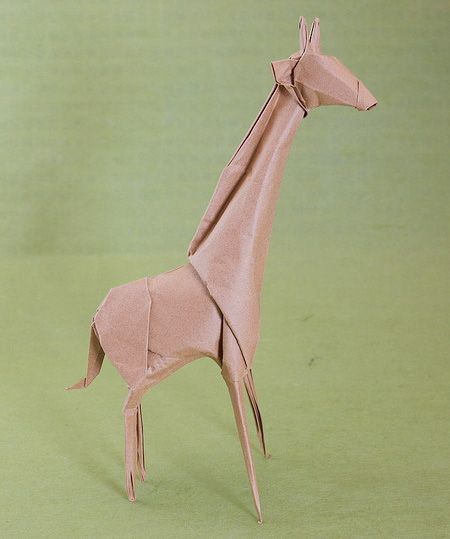 """25 Amazing Origami Animals"" -- Shown: Giraffe"