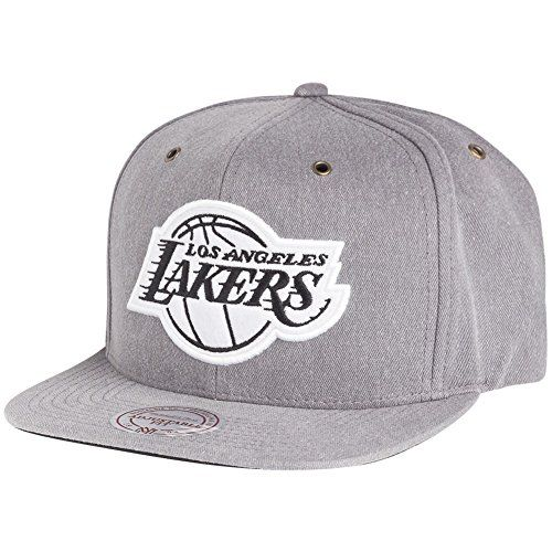 Mitchell & Ness Snapback Cap - NBA Los Angeles Lakers grey - http://weheartlakers.com/lakers-caps/mitchell-ness-snapback-cap-nba-los-angeles-lakers-grey