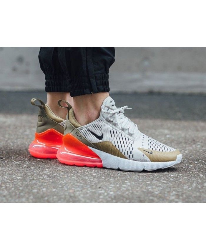 competitive price 15daf 2af43 Nike Air Max 270 Flat Gold Trainer