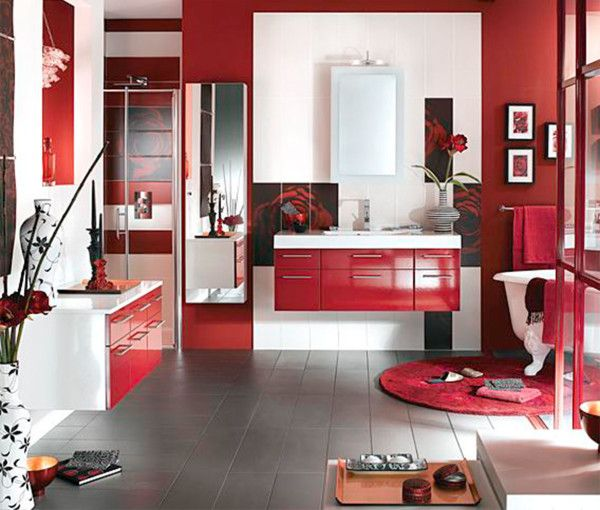 Picture Collection Website Red Bathroom Ideas