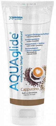 Aquaglide Cappuccino Glidecreme - 100 ml fra Aquaglide - Sexlegetøj leveret for blot 29 kr. - 4ushop.dk - AquaGlide Cappuccino er en vandbaseret glidecreme som giver et ekstra pif til sexlivet. Nyd glidecremen med dens dejlige smag af cappuccino. Aquaglide Cappuccino har duft og smag fra dejlige mørke kaffe bønner og lader sig også nyde ved oralsex. Dens optimale evner giver gode glideegenskaber over længere perioder. AquaGlide Cappuccino er ekstra hudvenlig, fri for konserveringsstoffer…