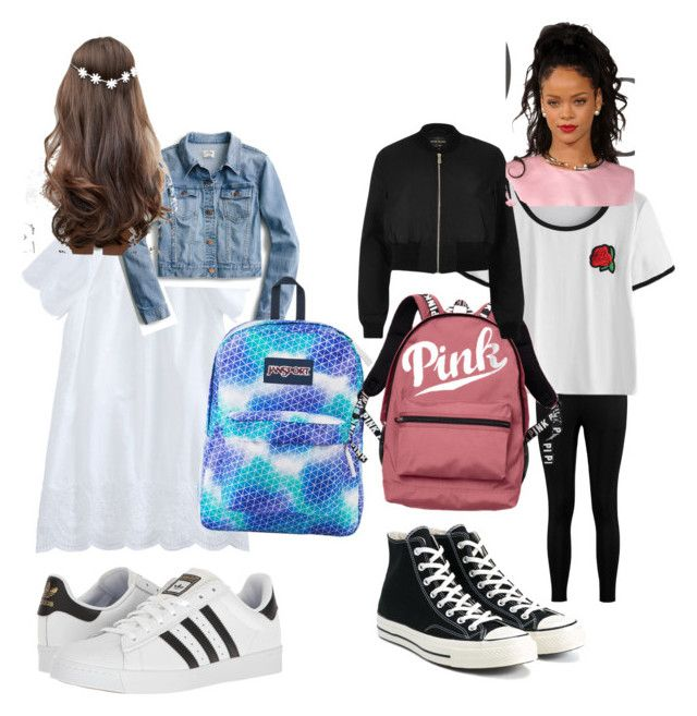"""5th - middle school outfits --middle school has a big dress code so it's hard"" by fancygirl654 on Polyvore featuring adidas, J.Crew, JanSport, ASOS, Boohoo, Converse, Victoria's Secret and River Island"