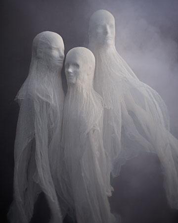 """Martha Stewart's Halloween Ideas (""""Cheesecloth Spirits"""" Here: http://www.marthastewart.com/858108/cheesecloth-spirits?czone=holiday%2Fhalloween-center%2Fhalloween-center-parties=858105=858108=276965"""