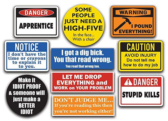 Danger Men Drinking Funny Bumper Sticker Decal