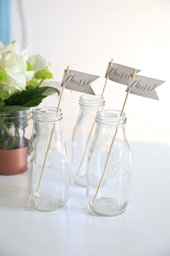 Use these Cheers! drink stirrers to add a little bit of charm to each drink at your event. Whether its a wedding; or, a New Years Eve party--these drinks