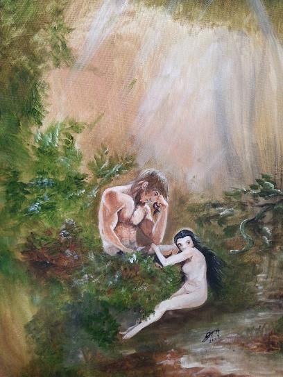 Adam and Eve(Original Painting)
