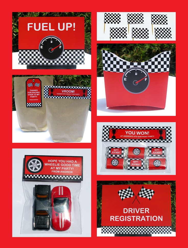 Race Car Party Printables, Invitations & Decorations – red ...