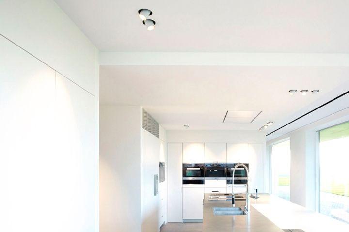 Современное освещение кухонной зоны