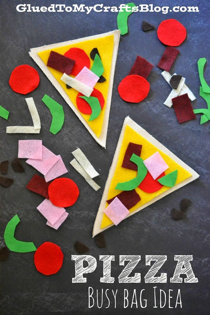 Pizza Making - Busy Bag Idea. Fun play idea for learning shapes and colors! #preschool #efl #education (repinned by Super Simple Songs)
