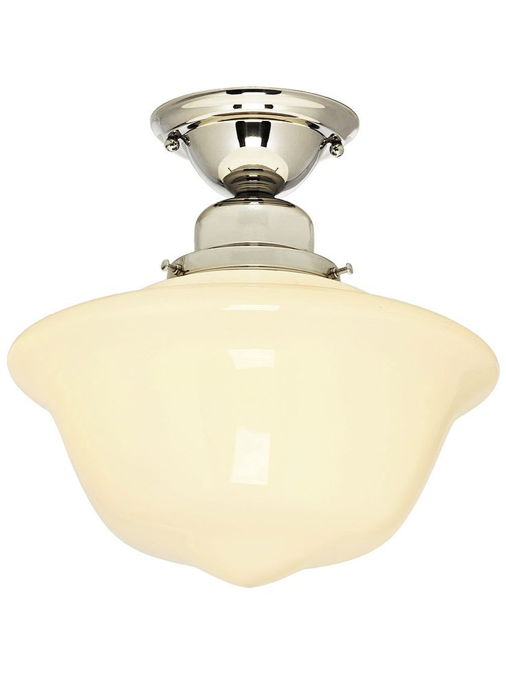 Solid Brass Schoolhouse Light With 12  Shade | House of Antique Hardware  sc 1 st  Pinterest & 431 best Polished Nickel images on Pinterest | Antique hardware ... azcodes.com