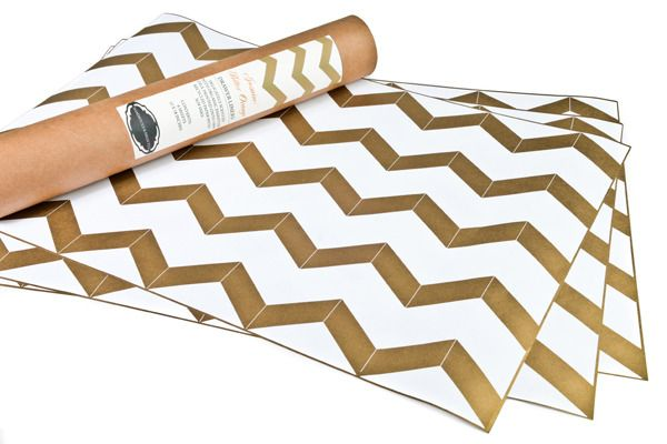 Use wrapping paper as table runners for a party - Good idea.: High Tea, Drawer Liners, Metallic Drawer, Drawers, Chevron Gold, Gold Chevron, Chevron Drawer