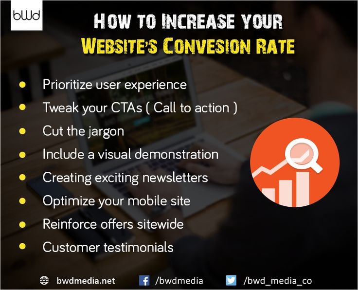 How to increase your #website #conversion rate. #bwdmedia https://bwdmedia.net/