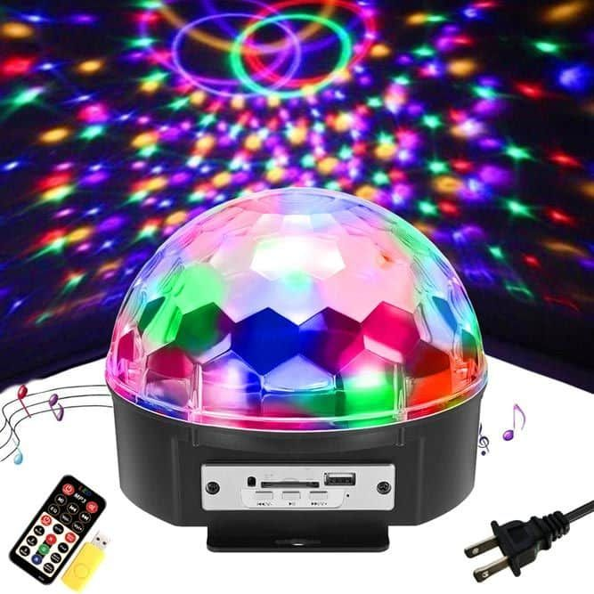 48 Led Rgb Voice Activated Crystal Magic Ball Effect Stage Lighting Ktv Club Disco Party Crystal Magic Ball Stage Lighting Disco Party