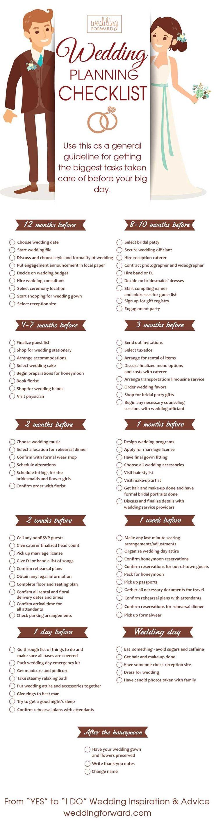 12 Month Wedding Planning Timeline