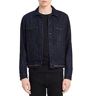 Calvin Klein Men's Waistband Zip Denim Jacket