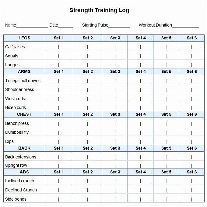 25 Workout Plan Template Excel In 2020 Workout Template Weekly