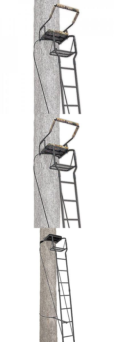 Tree Stands 52508: Ameristep 16 Recon Ladderstand Ladder Tree Stand Hunting Deer Seat Man Big New BUY IT NOW ONLY: $92.87
