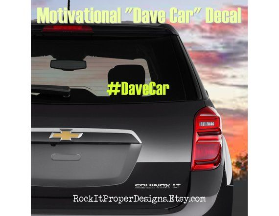 Dave Ramsey Decal, DAVE CAR Decals, Dave Ramsey Car Deal, Dave Car Vinyl Decals, Dave Car Sticker, Debt Free Decal, Dave Car Bumper Sticker