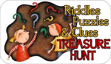 This kids hunt includes 19 treasure hunt clues.  It includes complete instructions on how to set up this awesome treasure hunt. Clues include puzzles, riddles, and MORE!