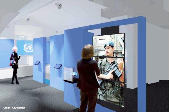 Zone ONU du futur Musée Royal 22e Régiment #MR22eR #CitadelleQuébec #Ouvertureprintemps2014