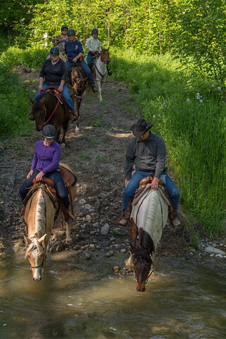 Horseback riding on the beautiful trails at Horse Country Campground in the Ottawa Valley!
