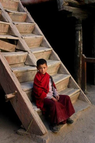 Young monk from Leh, Ladakh