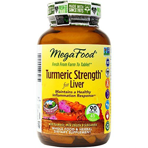 MegaFood - Turmeric Strength for Liver, Supports Healthy Function of the Liver, 90 Tablets *** You can find more details by visiting the image link.