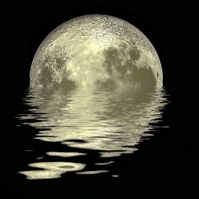 Crystal Moon light reflection