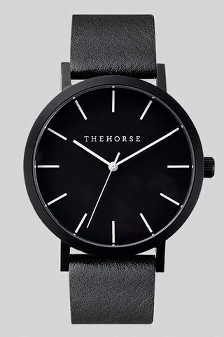 The Horse Matte Black Leather Watch | Buy More From The Horse Collection Online