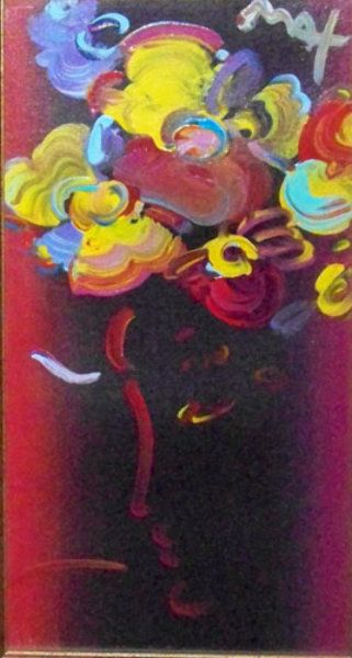 "Original Painting ""Roseville Series: Roseville Profile Detail ver. II"" by Peter Max"