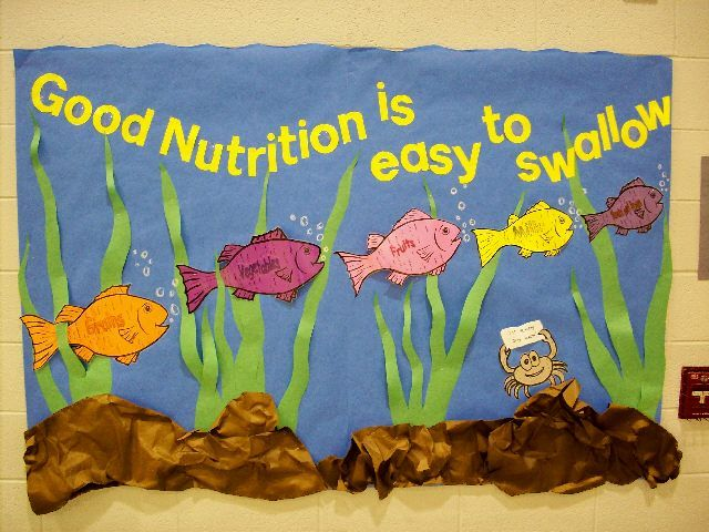 Nutrition+Bulletin+Boards | ... bulletin board paper. The students, especially the younger ones, have