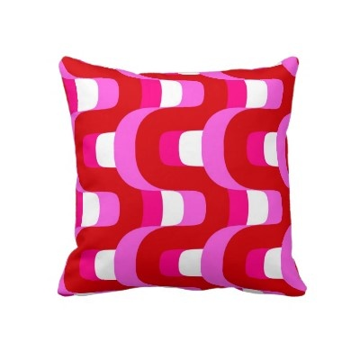pink, red and white mod pillowWhite Mod, Mod Pillows, Applaud Mod