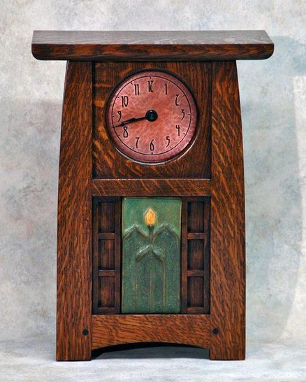 17 best images about arts crafts style on pinterest for Arts and crafts clocks for sale
