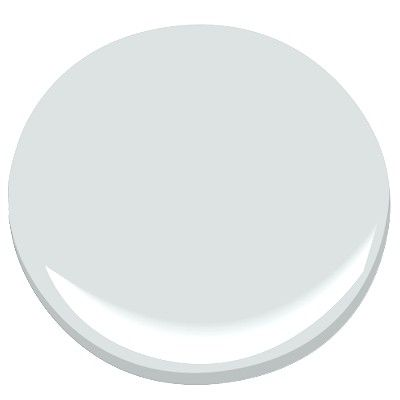 Benjamin Moore Iced Cube Silver: pale gray with evident blue undertones, can look baby blue in lots of light