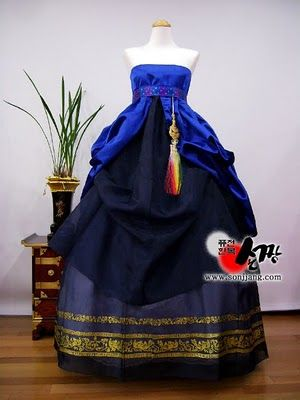 hanbok wedding dress? if only it was in white