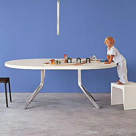 Table By Monica Graffeo For Kristalia Fixed Or Extending Dining Oak